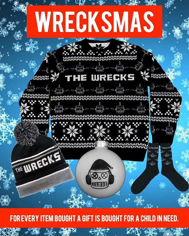 🤖ANNOUNCEMENT🤖 Introducing #WRECKSMAS2018! Like last year, our profits go to buying gifts for children in need this Holiday season. We've added more items, so we can buy a shit ton of gifts for kids! Some pieces are limited so get yours now. (Link in our story)