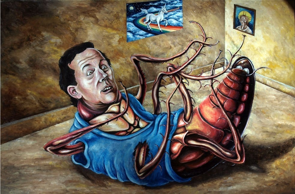 """The Metamorphosis"" - oil on canvas - 24"" x 36"" - $300 USD"