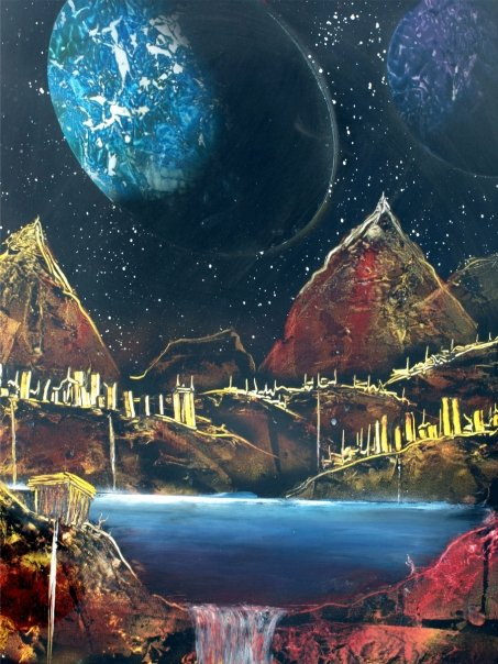 Spray Paint Art, Space Art