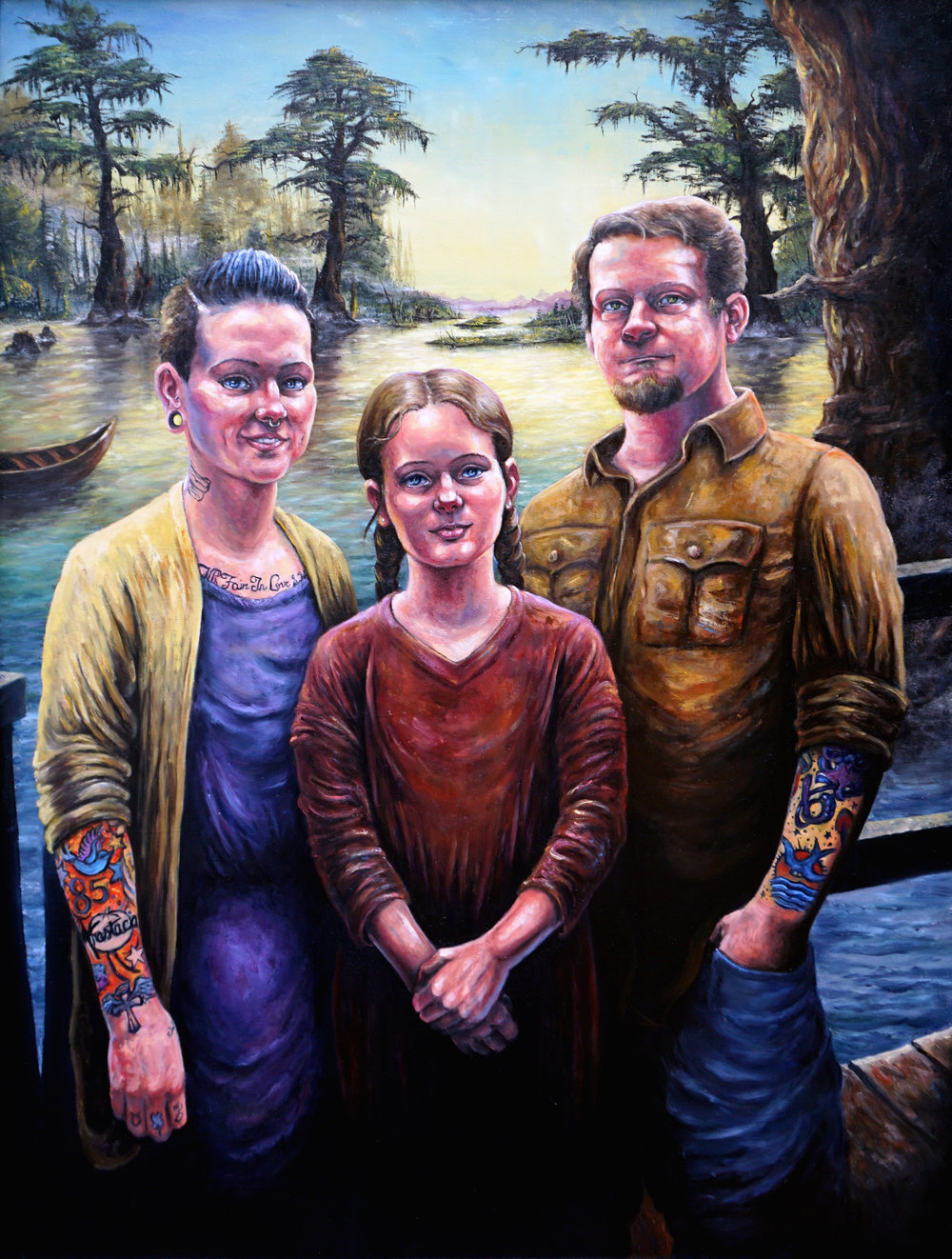 "36x48"" Family Portrait w/ Background"