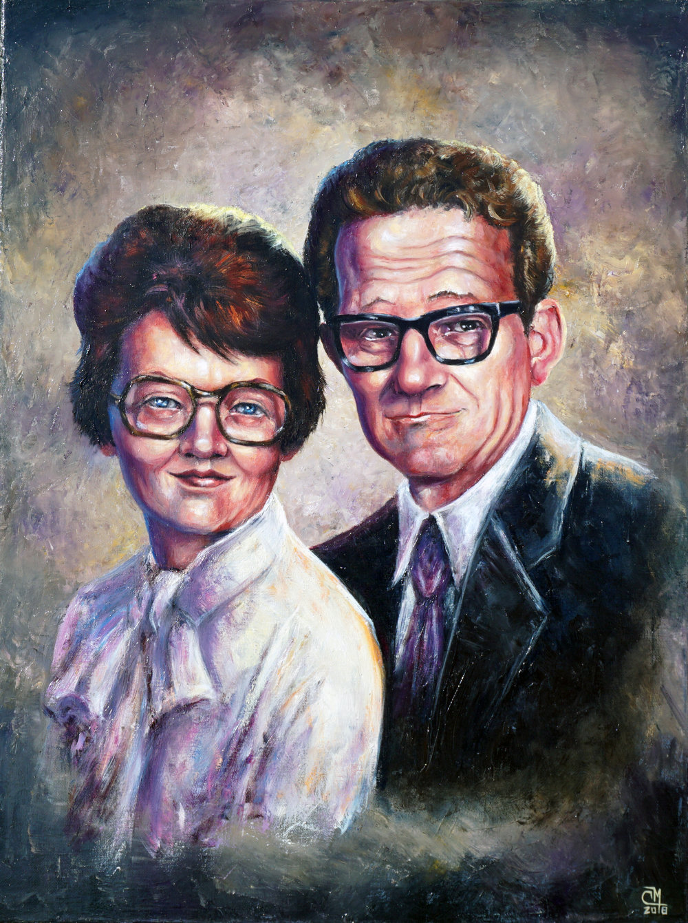 "18x24"" Portrait w/ 2 figures"