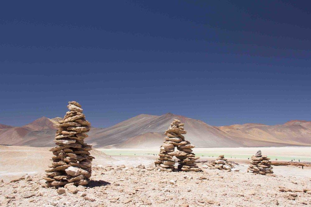 Lagunas altiplánicas a más de 4000 msnm!