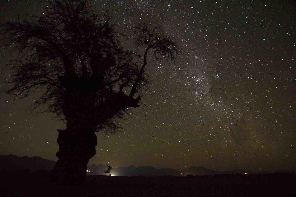 la Vía Láctea a las 4 am.