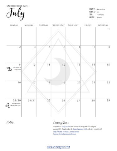Sora Sacred Circle Calendar JULY.png