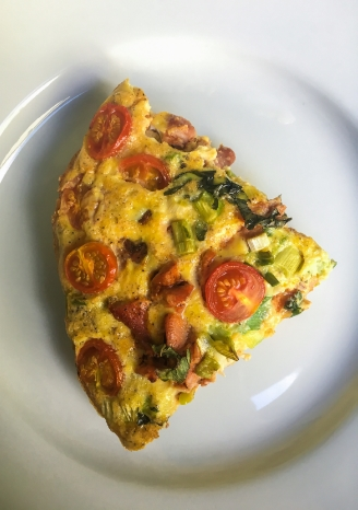 Slice of Hot Wing Chicken Baked Frittata