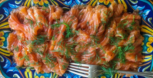 Mom's Gravlax with Honey Mustard & Dill