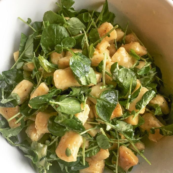 Micro Green Gorgonzola Gnocchi