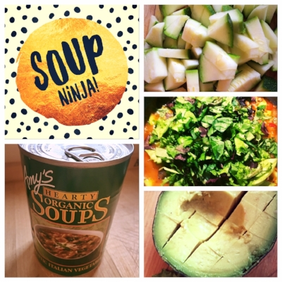 Nicole's Soup Ninja hack for a balanced healthy meal in a pinch.