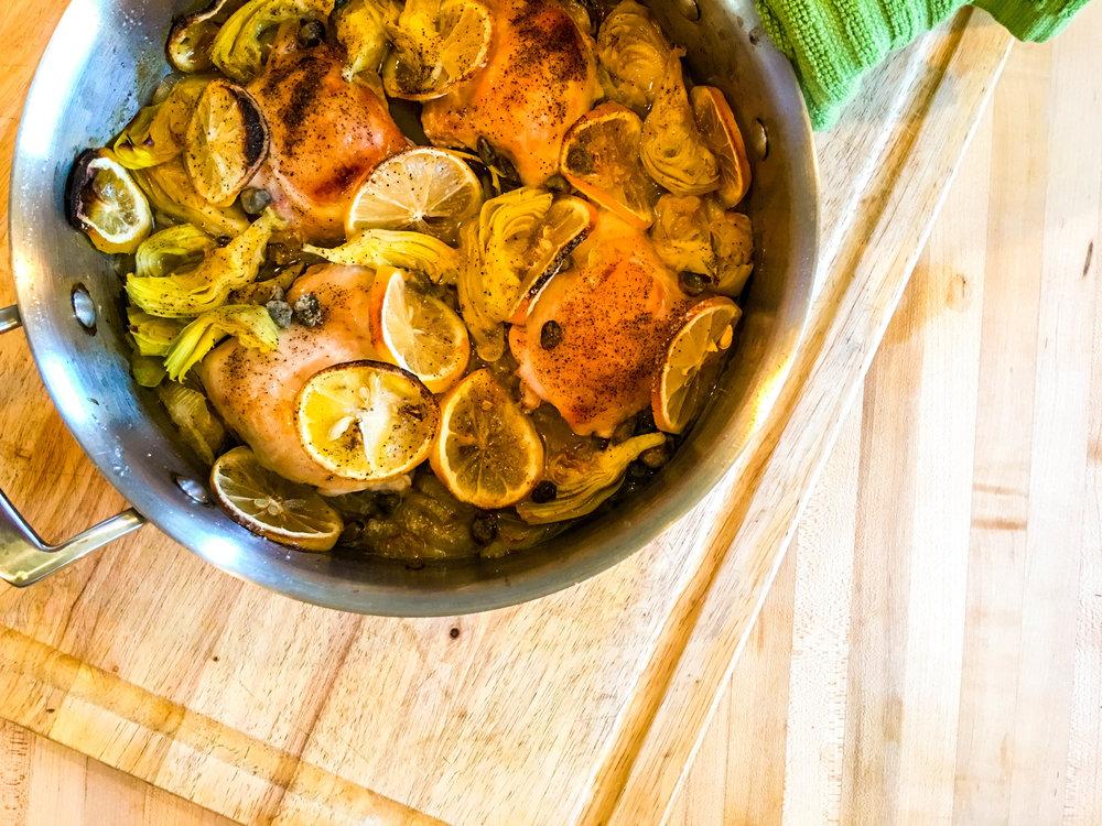 Roasted Chicken Piccata & Zucchini