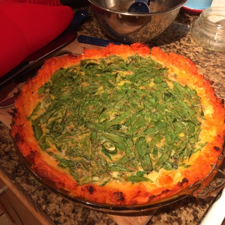 """This is the sweet potato crust quiche - and it's so dang good."" -Maren C."