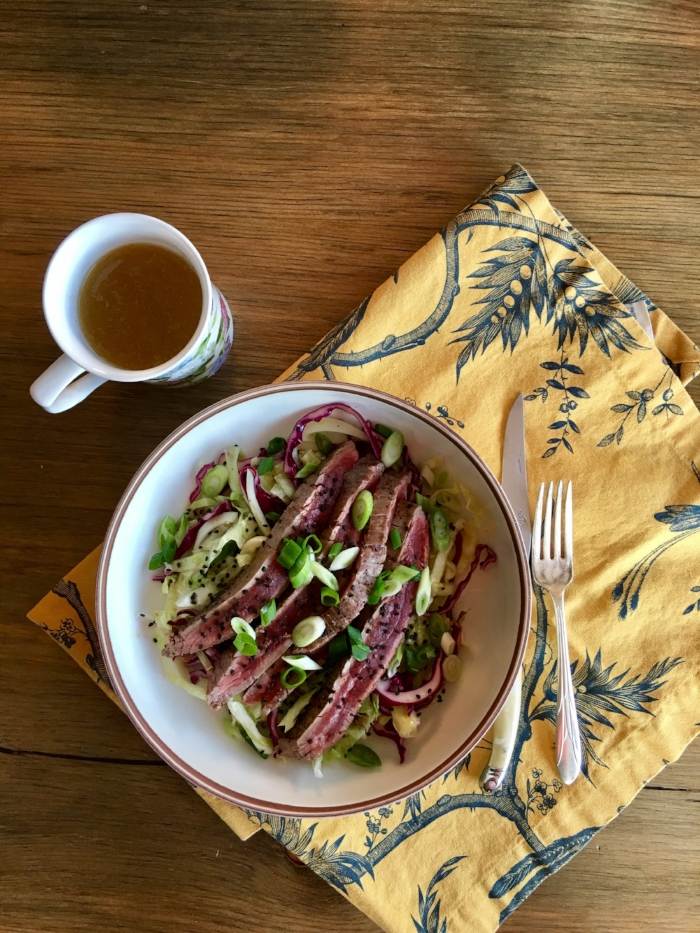 Grilled Flank Steak - with Asian Citrus Slaw
