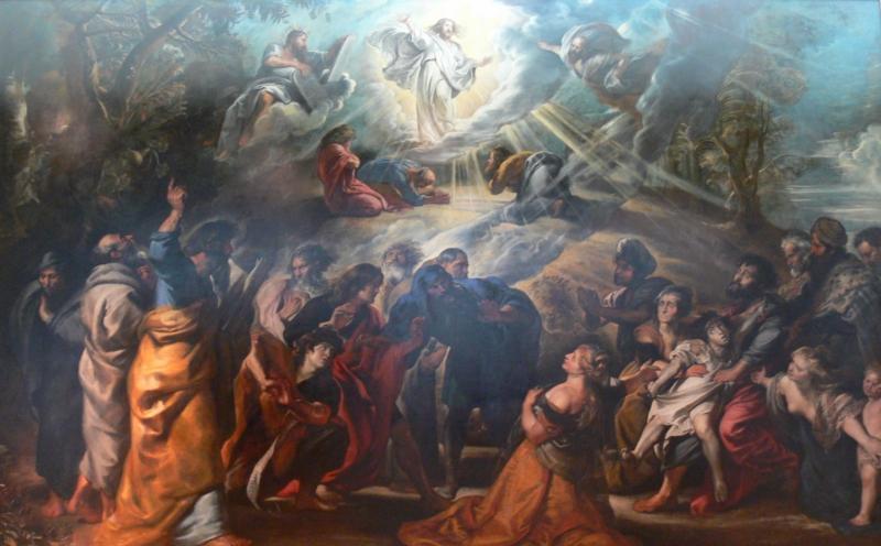 The Transfiguration, Rubens. Via WikiCommons, CC0.