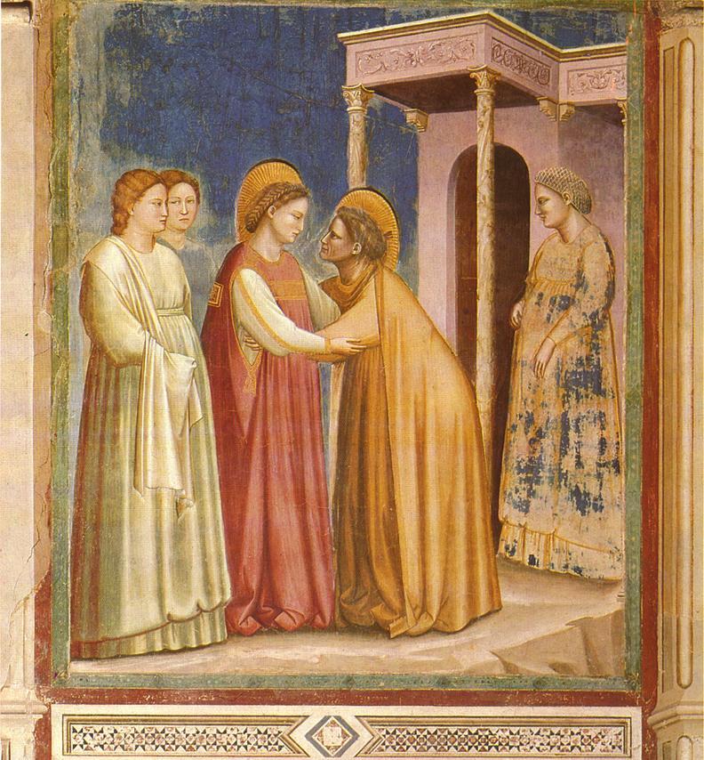 Giotto,The Visitation, via WikiCommons, public domain.