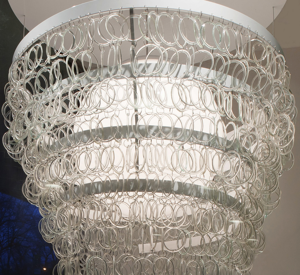 GUGGEHEIM INSPIRED CHANDELIER