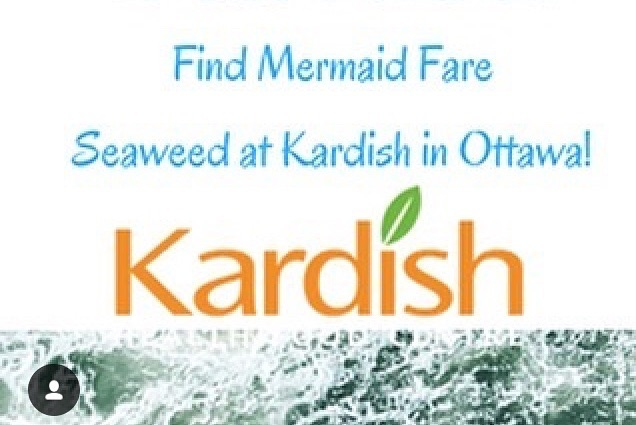 Ottawa! Did you know you can find Mermaid Fare seaweeds at @kardishfoods in Ottawa? Try Hana Tsunomata for the seaweed salad 🥗 experience of a life time. Recipe at ➡️ www.mermaidfare.com #seaweed #healthy #atlantic #vegan #sustainable #iron #protein #plantbased #mermaidfare