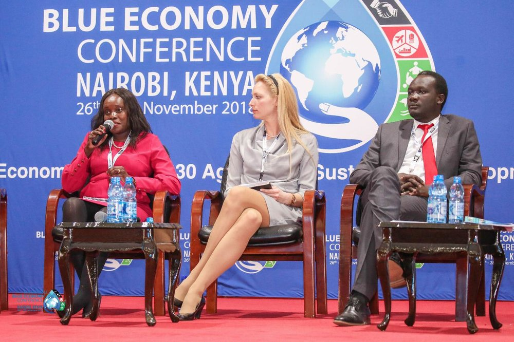 Sustainable Blue Economy Conference (SBEC) Nairobi, Kenya - November, 2018 - The Sustainable Blue Economy Conference took place in Nairobi, Kenya - Hosted by Canada, Kenya, and Japan with over 184 countries, 18,000 participants, 200 speakers, heads of states, policy makers - and more.It was the first of it's kind and brought together individuals from around the world to work towards a prosperous and inclusive Blue Economy in alignment with the United Nations 2030 Sustainable Development Goals - a call to action to make change.This panel took place in Taifa hall at the University of Nairobi under the Youth Event: