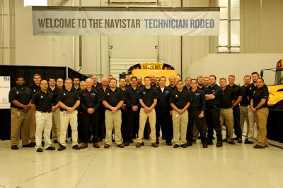 2016 Navistar U.S./Canadian & Global Technician Rodeos. Photo credit: Navistar