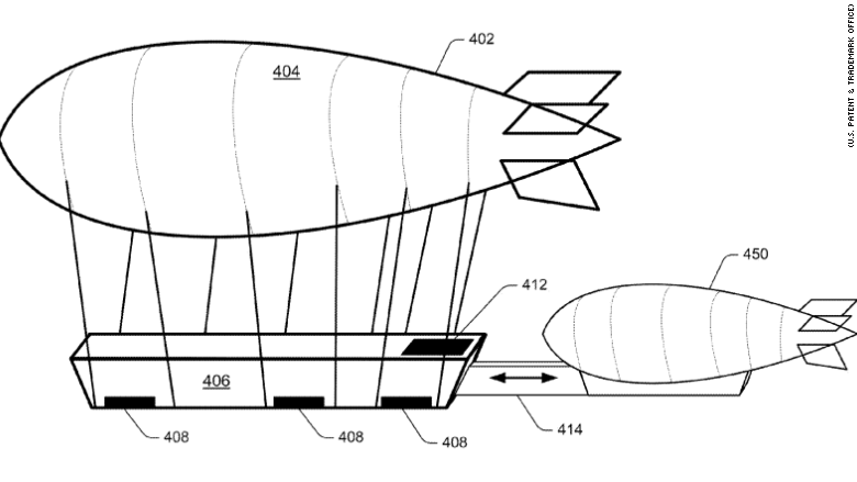 An illustration from Amazon's patent shows how the system may work.