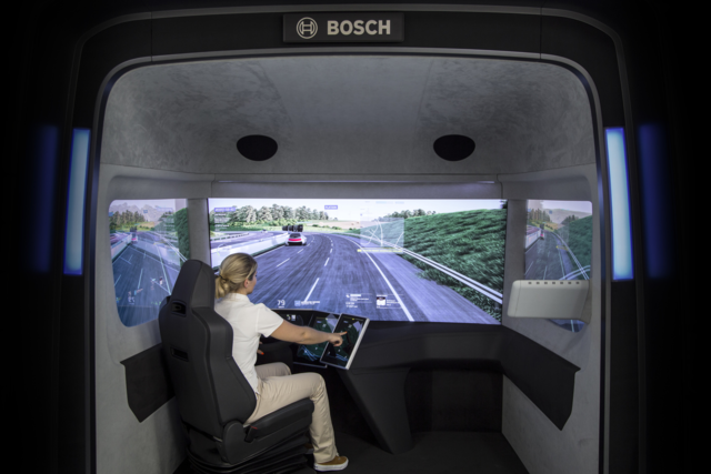 In the future, Bosch envisions a more simplified operator experience with fewer physical displays and camera systems which replace rear view mirrors.  BOSCH