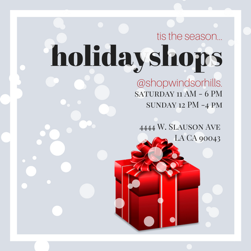We've added a few of our favorite gifting items. Handmade dolls, eclectic ornaments, perfume bottles, jewelry, accessories, and more. Mark your calendar for this weekend. Saturday 11 AM - 6 PM Sunday HOLIDAY OPEN HOUSE 12 PM - 4 PM Stay tuned for more details.