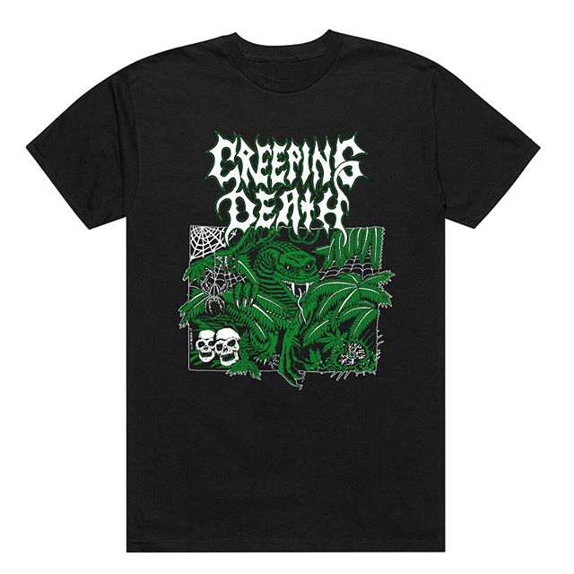 🚨NEW MERCH DAY🚨 new stuff in the shop from #creepingdeathtx and #BlindsideUSA , link in bio