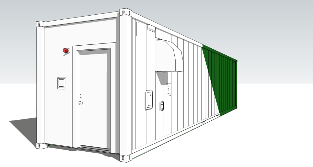 It's a box - a 40 fott reefer shipping container to be exact.