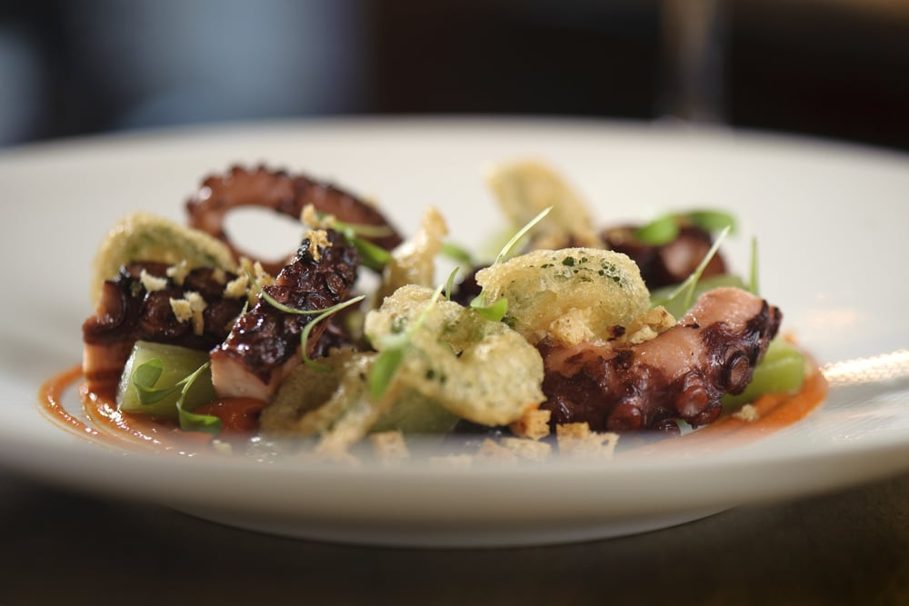 L'Abattoir Food - BBQ octopus, fried jalapeno, smoked pepper sauce, bread crumbs toasted in pork fat.jpg