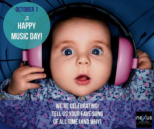 Be happy, it's #Musicday!