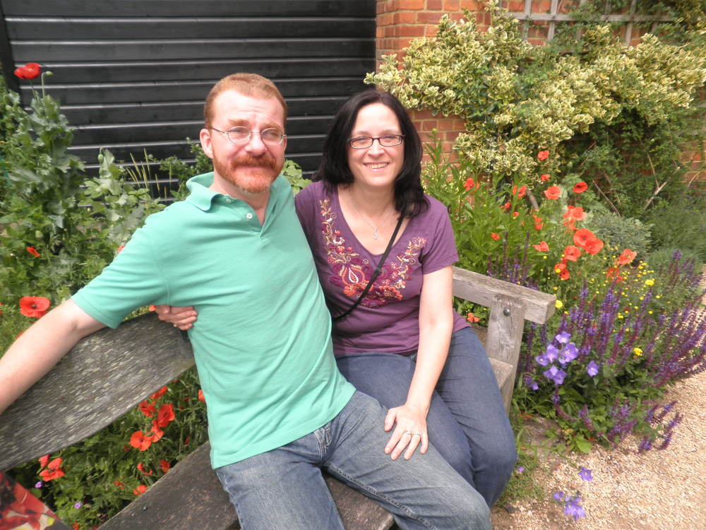 My husband Mark and I, in England for our 25th wedding anniversary in 2012