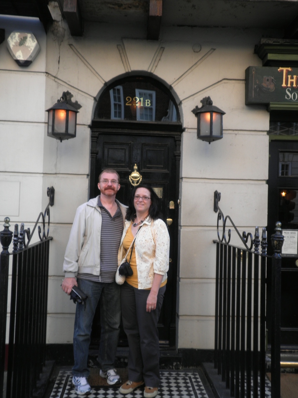 Hanging out with Sherlock Holmes, London 2012