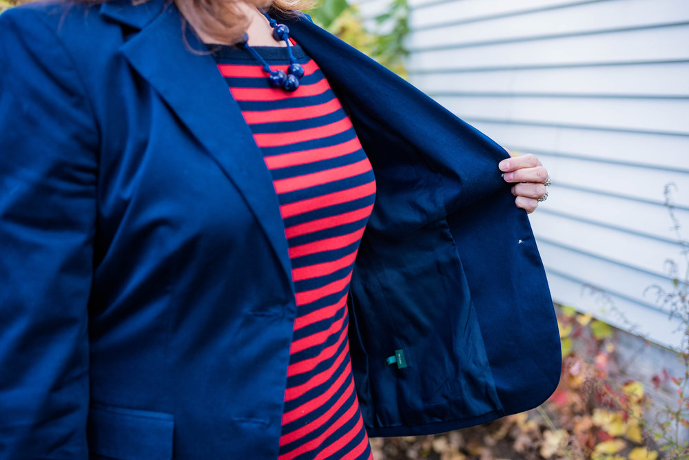 piece perfect - navy blazer