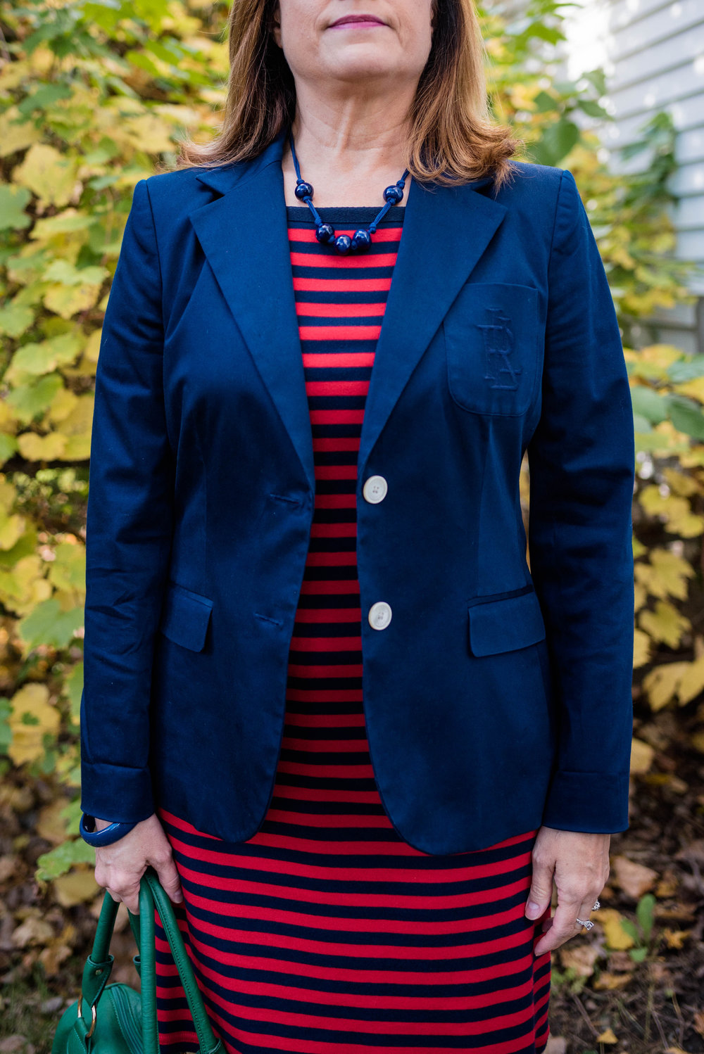 Piece Perfect - navy blazer outfit