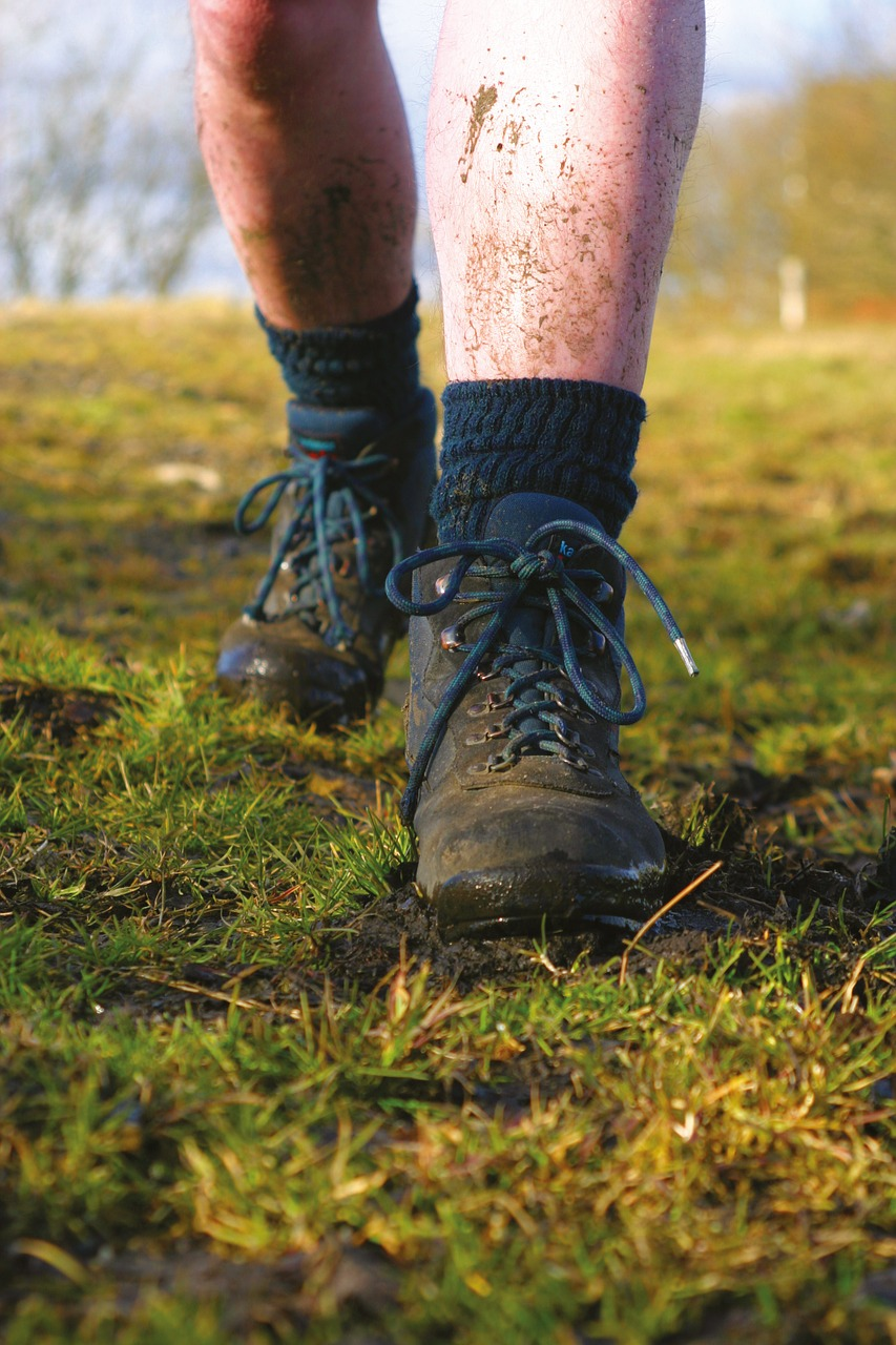 pixabay - wet muddy boots and socks