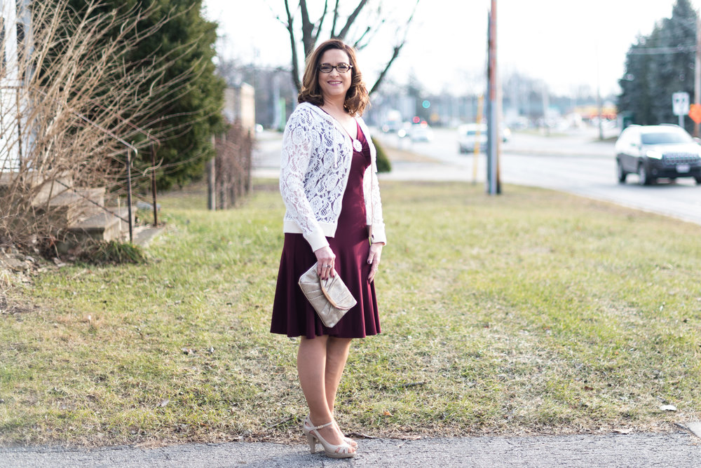 romance is in the air - burgundy dress
