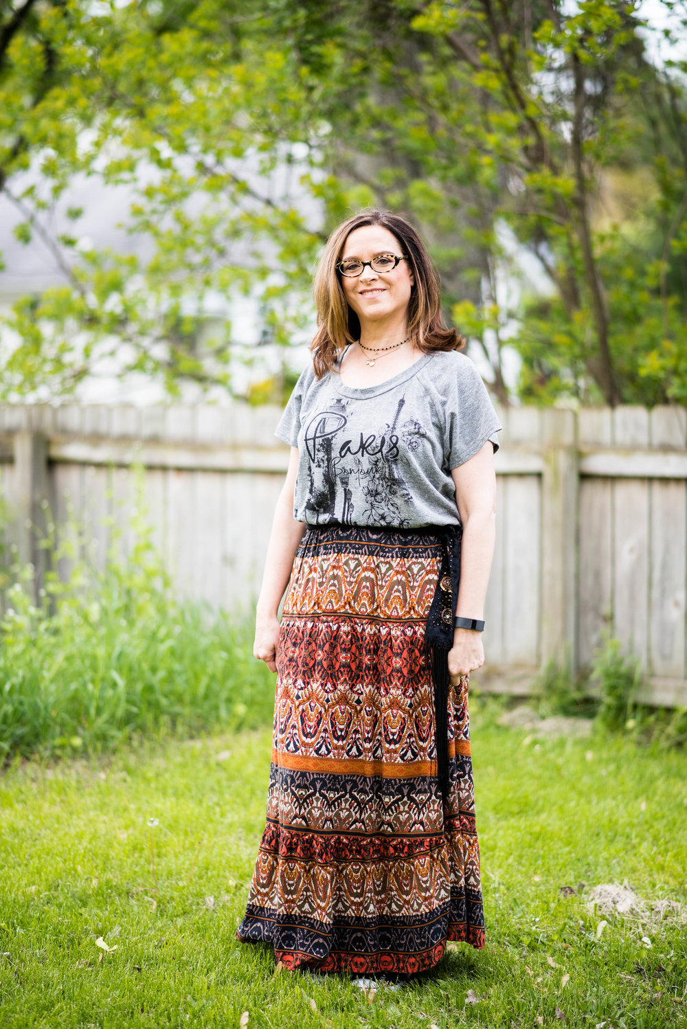 Beautiful Blogger Bests - Graphic tee with boho skirt