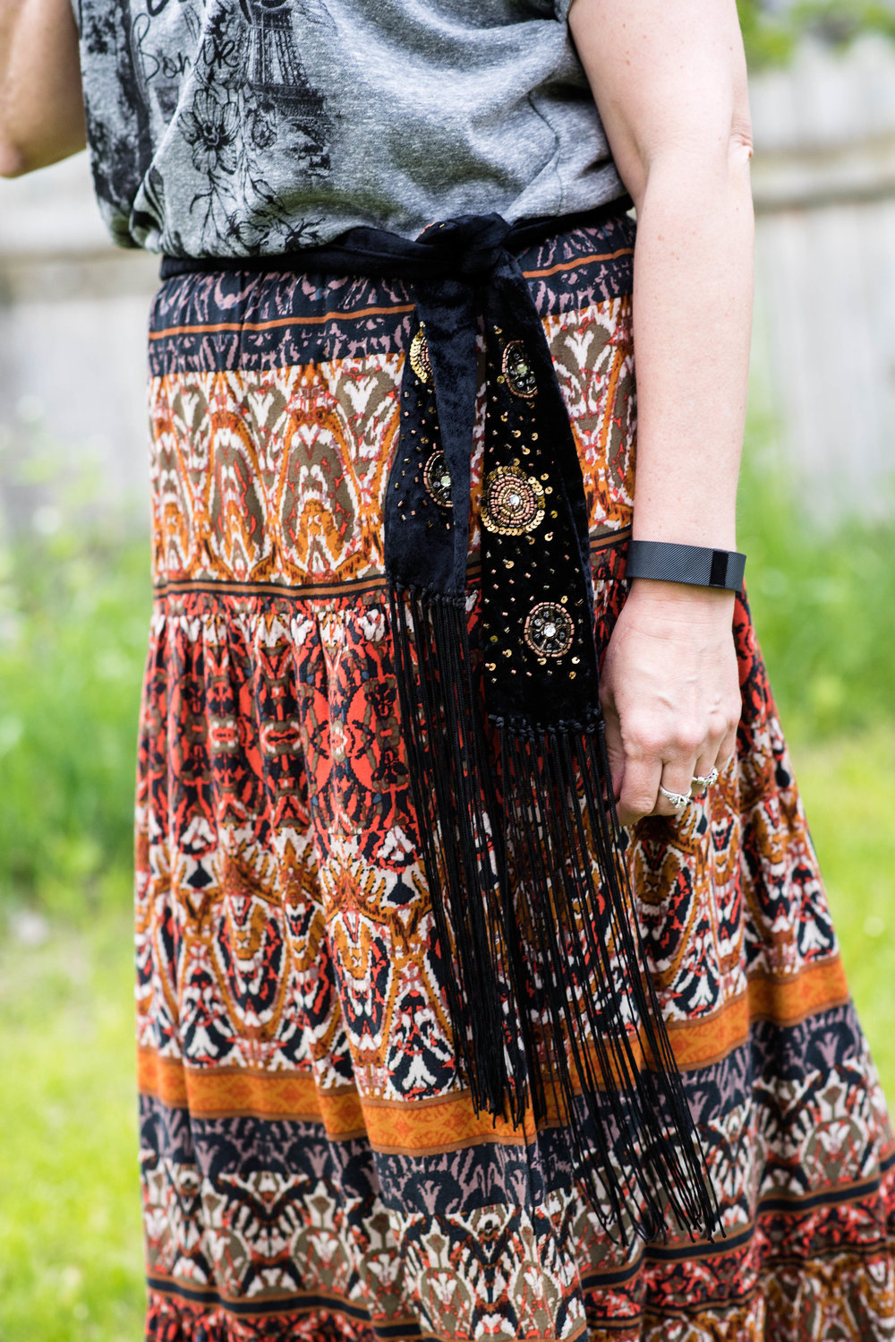 Beautiful Blogger Bests - graphic tee and boho skirt