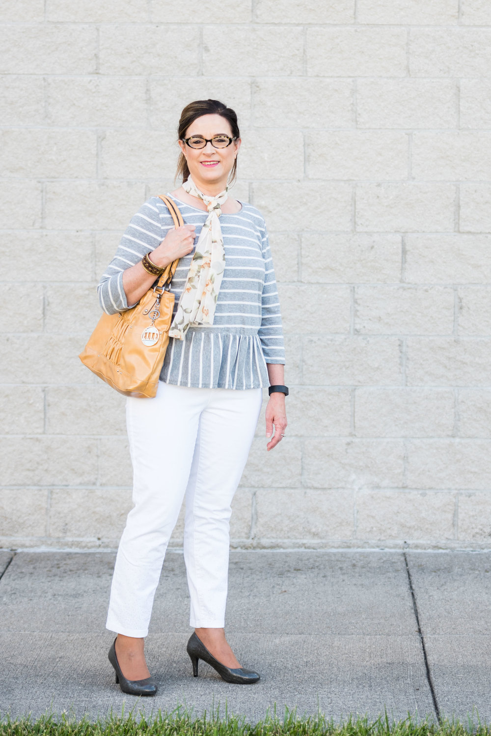 Beautiful Blogger Bests - peplum tee and white jeans
