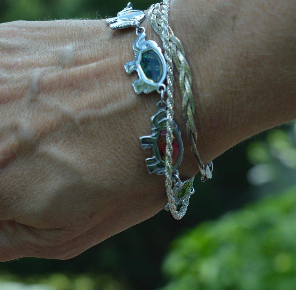 silver chain bracelets