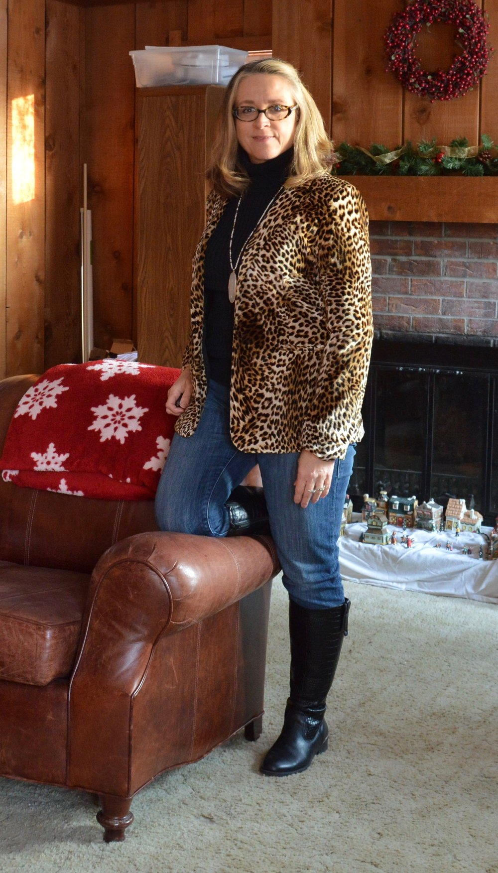 Layering love - leopard print jacket