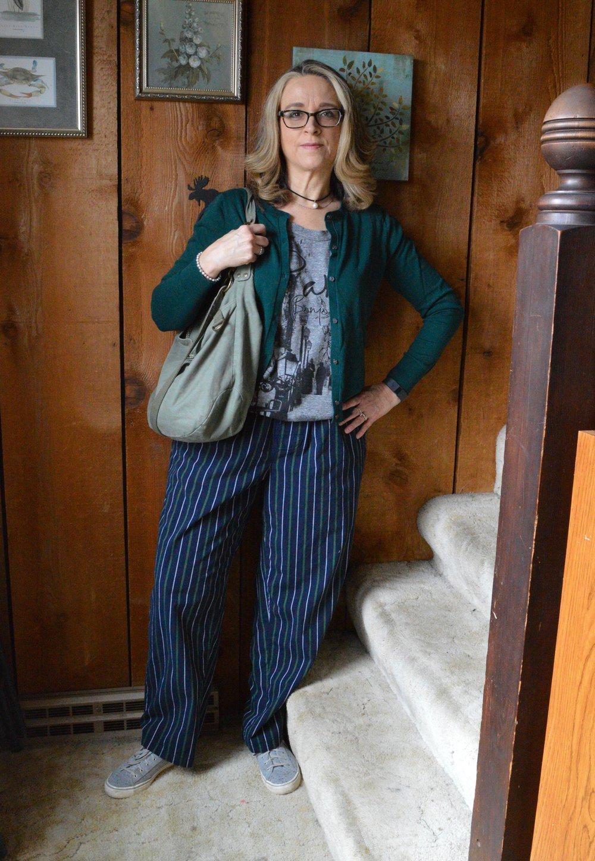 Pajama pants outfit