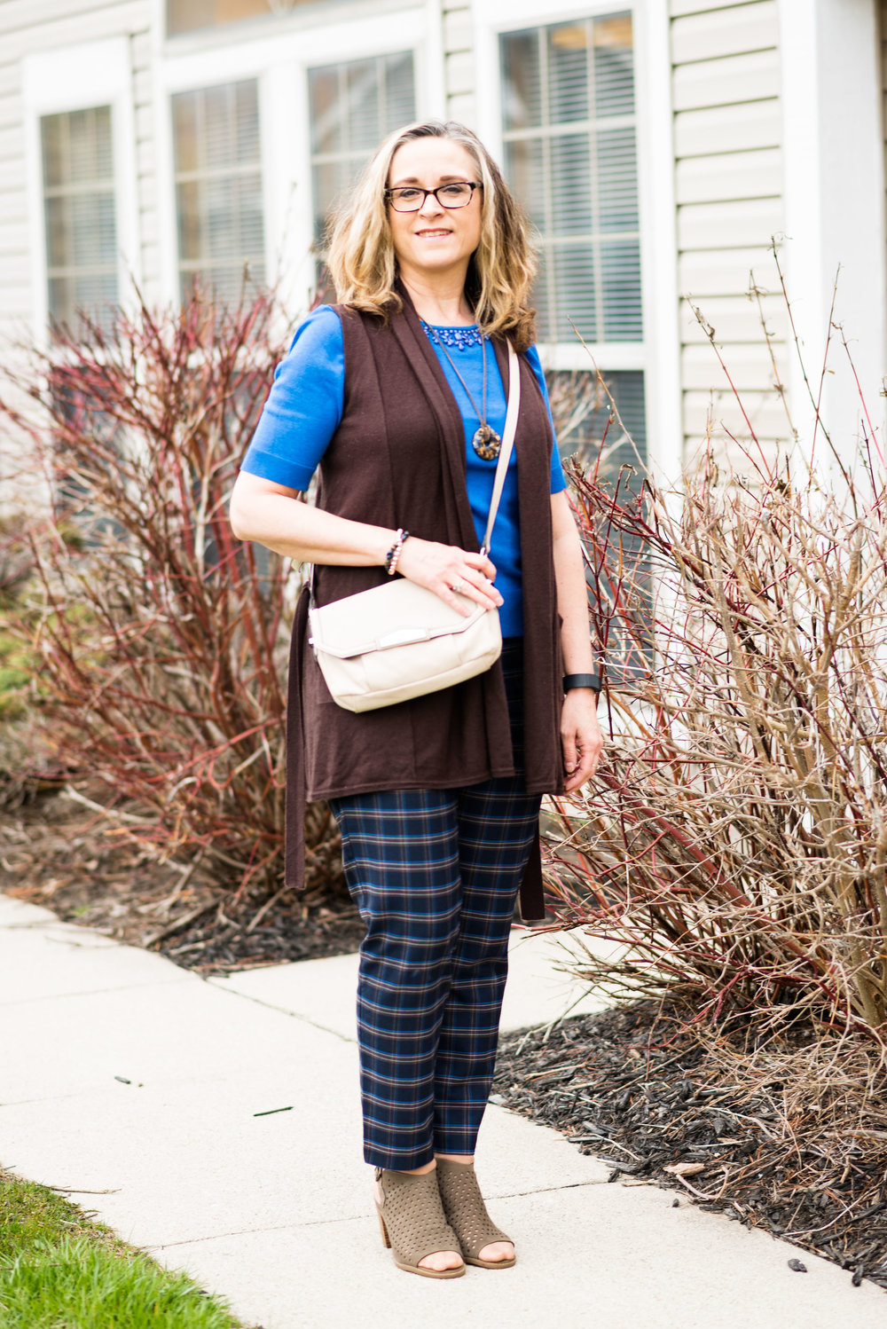 Spring transition - layering with a vest