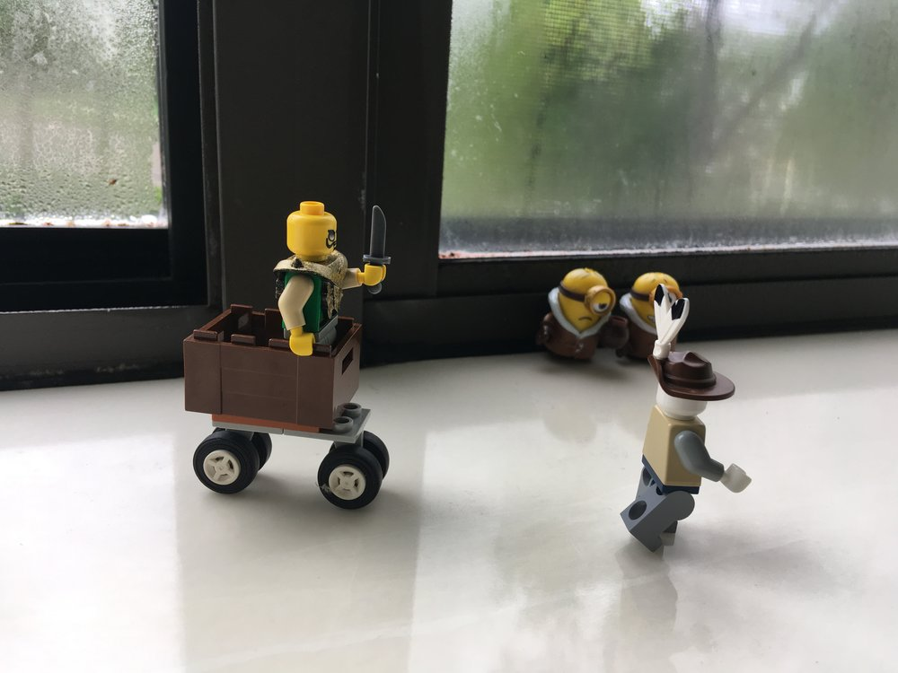 Legos being silly.