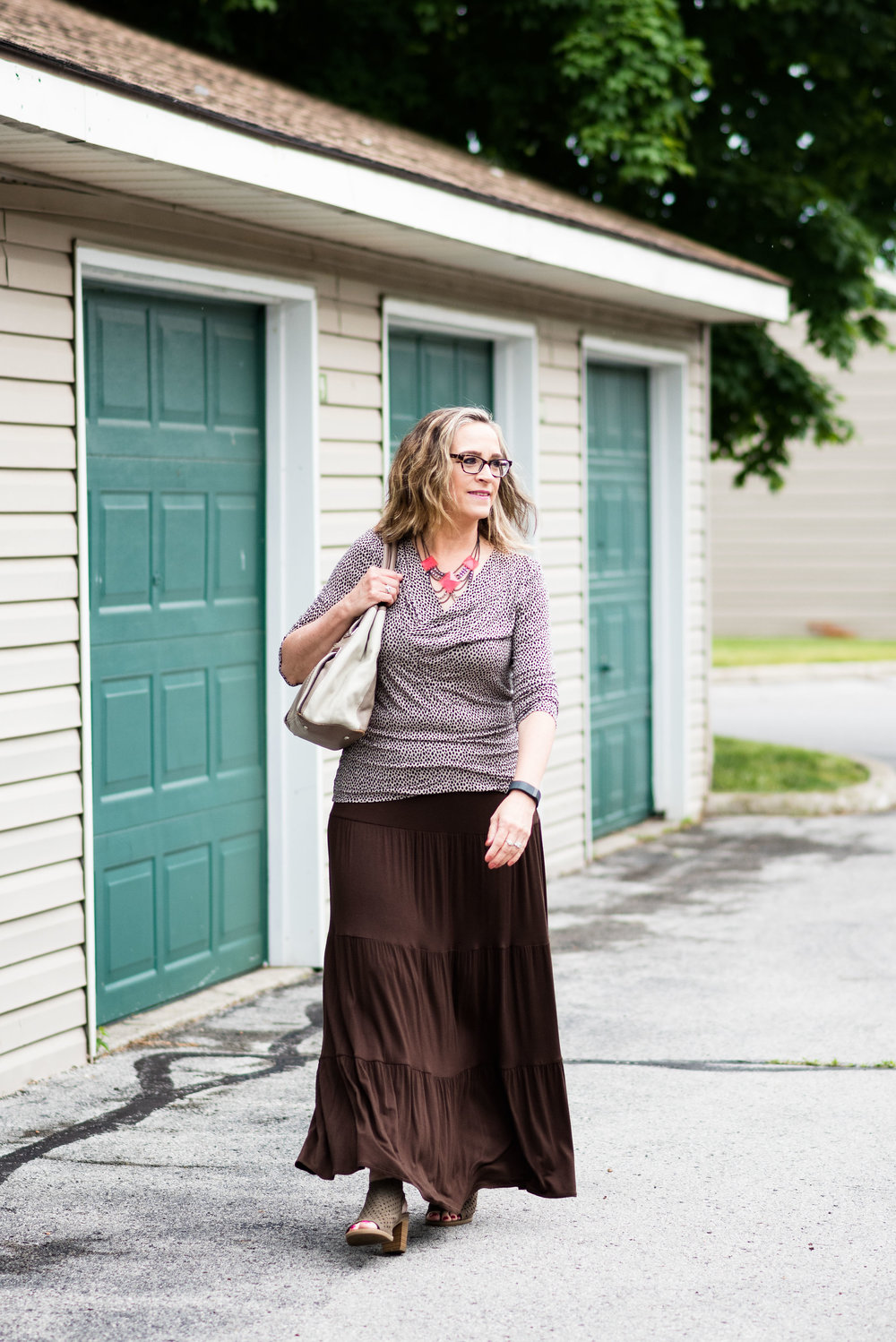 Old Becomes New - Tiered Maxi Skirt