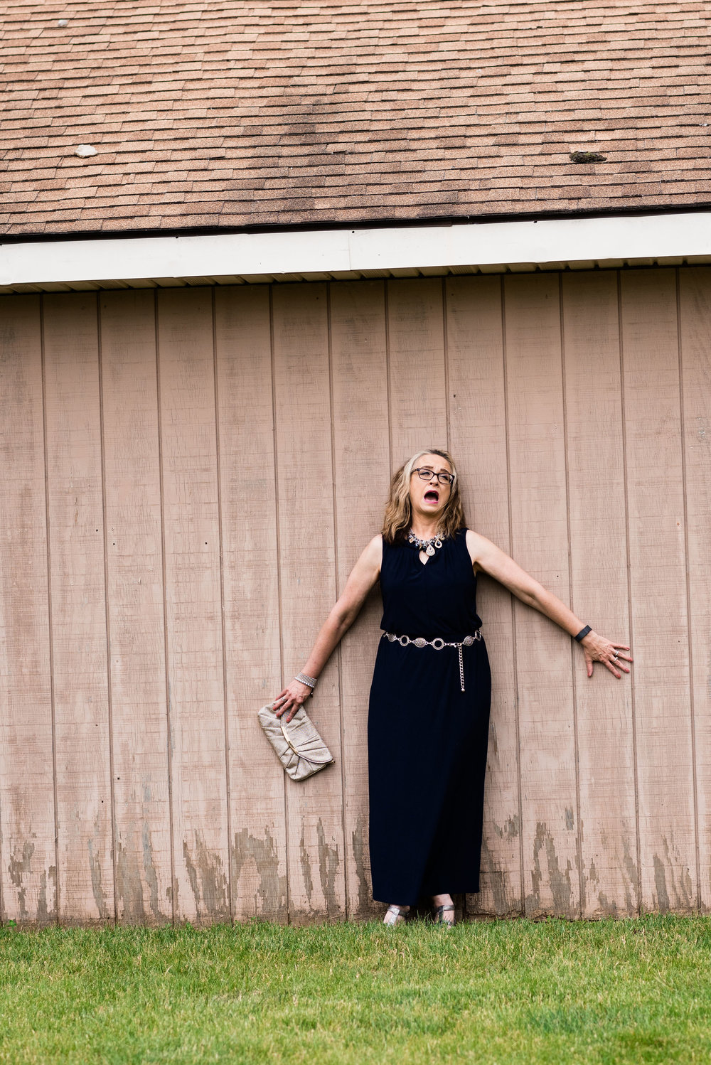 Marvelous Maxis - navy blue dress