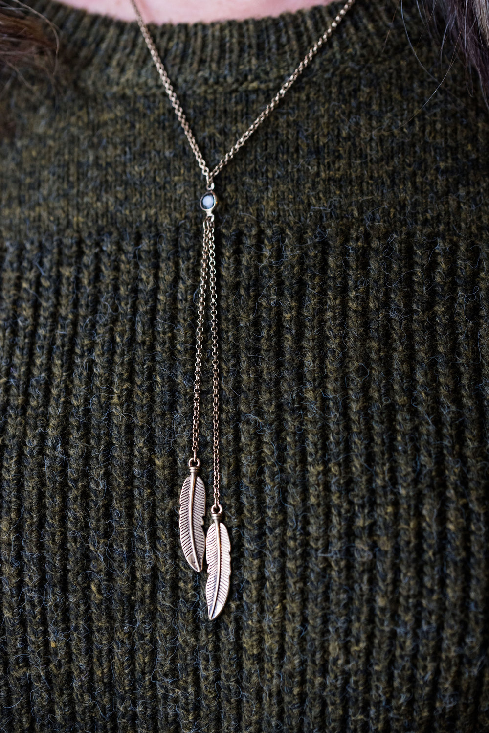 Happiness Boutique - vintage feather necklace