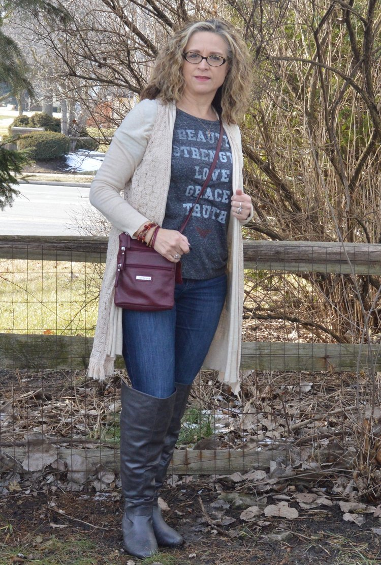 Layering Love - vest over a cardi