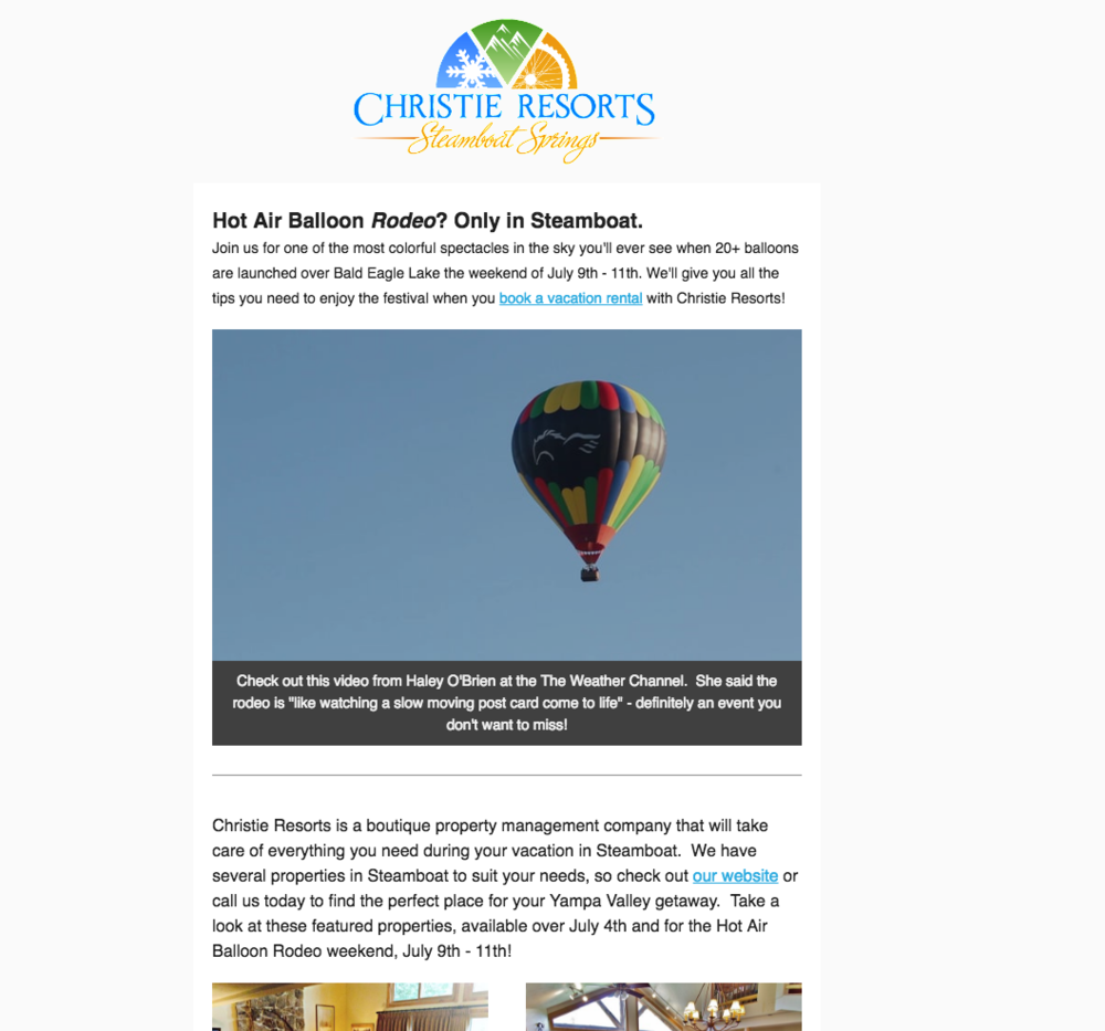 Christie Resorts Newsletter