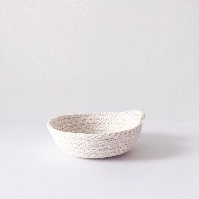 I love the minimalism of these mini rope bowls. Available for purchase in the Etsy shop!