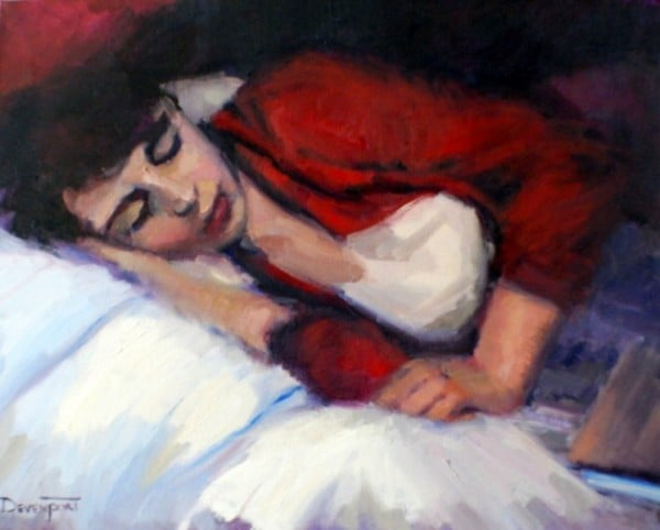 Woman Resting, oil (sold)