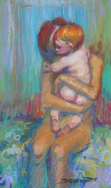 Sweet Cheeks, pastel (sold)